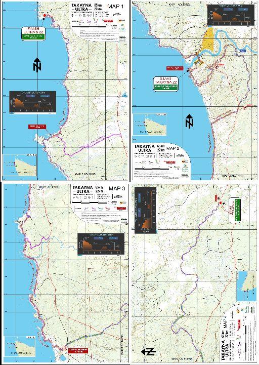 Takayna Ultra 65km Event Map